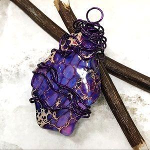 BOGO💫Wrapped Purple Jasper Pendant